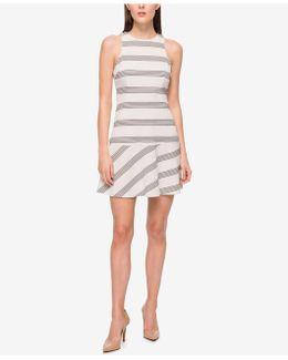 Striped Drop-waist A-line Dress