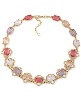 Gold-tone Multi-stone Collar Necklace
