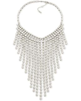 Silver-tone Crystal Statement Necklace