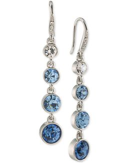 Something Blue Linear Drop Earrings