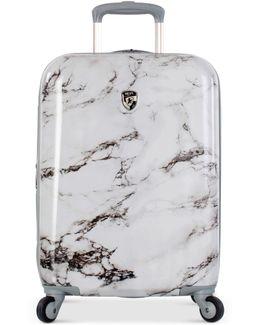 "Bianco Stone Printed 21"" Hardside Spinner Suitcase"