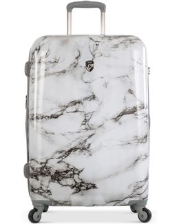 """Bianco Stone Print Hardside 26"""" Spinner Suitcase"""