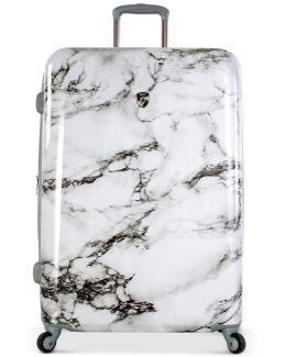 """Bianco Stone-print 30"""" Hardside Spinner Suitcase"""