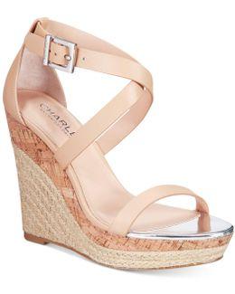 Aden Espadrille Platfrom Wedge Sandals