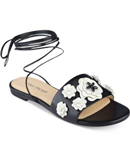 Catera Flat Lace-up Sandals