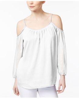 Crinkled Off-the-shoulder Top