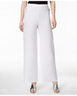 Side-tie Wide-leg Pants