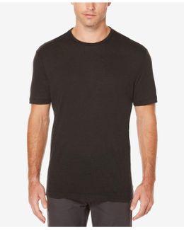 Big And Tall Short Sleeve Linen Crew Shirt