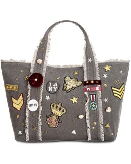 Grady Large Tote With Patches & Pins
