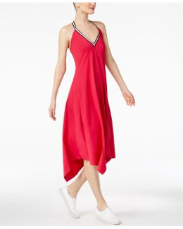 Handkerchief-hem Halter Dress