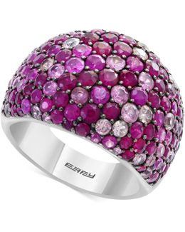 Ruby (3-1/2 Ct. T.w.) & Pink Sapphire (2-5/8 Ct. T.w.) Ring In Sterling Silver