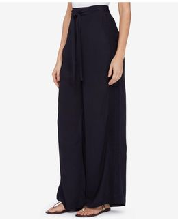 Lace-trim Wide-leg Pants