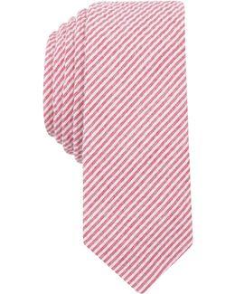 Men's Bergn Seersucker Stripe Skinny Tie