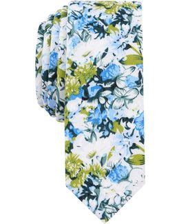 Men's Canard Floral Cotton Skinny Tie