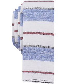 Men's Garratt Horizontal Stripe Cotton Skinny Tie