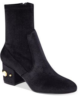 Previ Detailed Ankle Booties