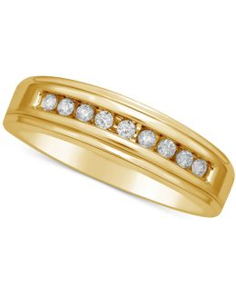 Diamond Channel Set Band (1/5 Ct. T.w.) In 14k Gold