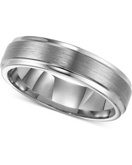 Men's Tungsten Carbide Ring, 6mm Comfort Fit Wedding Band