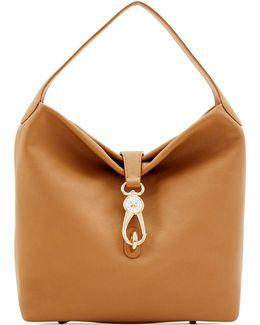 Logo Lock Medium Shoulder Bag