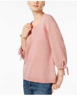 Cashmere Tie-sleeve Sweater