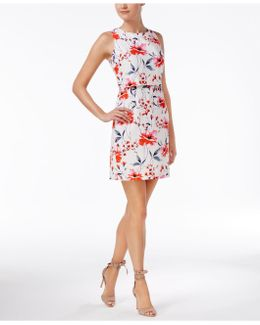 Floral Popover Sheath Dress
