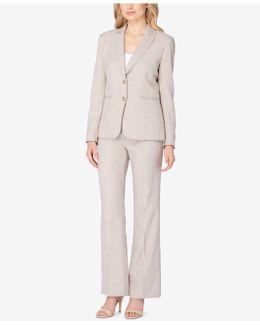 Two-button Crosshatch Pantsuit
