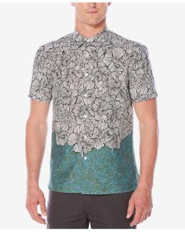 Men's Luau Colorblocked Floral-print Shirt