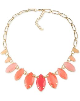 Gold-tone Multi-stone Statement Necklace