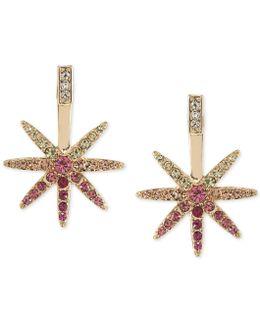 Gold-tone Crystal Ombré Star Stud Earrings