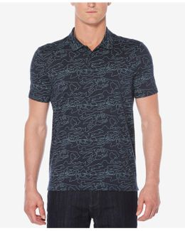 Men's Big & Tall Eclipse Line-graphic Polo