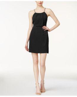 Cutout Lace-contrast Dress
