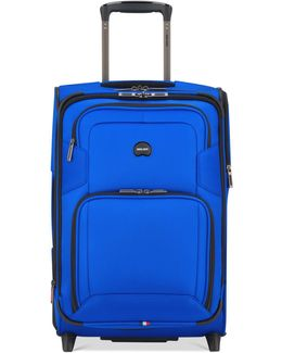 Opti-max Expandable Carry-on Spinner Suitcase