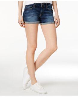 Cotton Edlyn Wash Rolled Denim Shorts