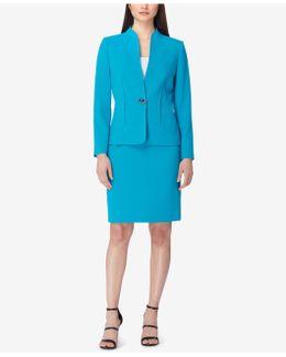 Swivel-button Skirt Suit