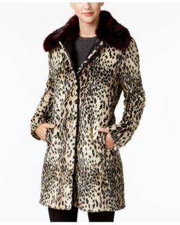 Faux-fur Leopard-print Coat