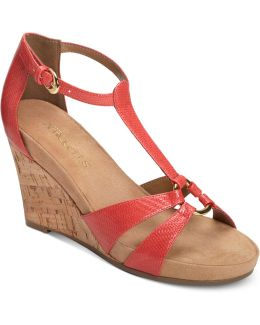Plush Ahead Wedge Sandals