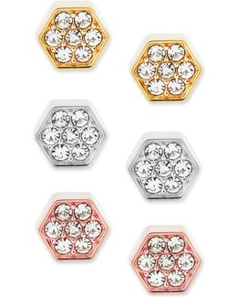 3-pc. Set Cubic Zirconia Stud Earrings