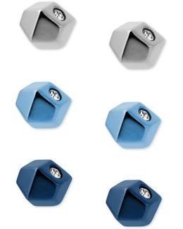 3-pc. Pavé Stud Earrings Set