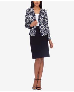 Jacquard Skirt Suit