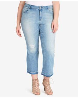 Trendy Plus Size Cherish Dune Wash Cropped Jeans