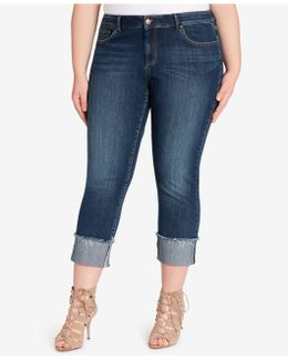 Trendy Plus Size Forever Wright Wash Cuffed Jeans
