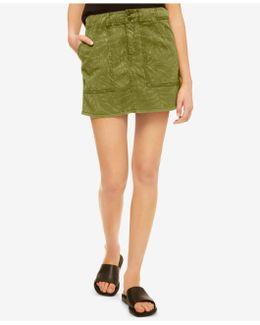 Lily Leaf-print Mini Skirt