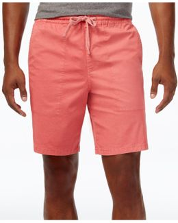 Men's Slim-fit Stretch Garment-dyed Shorts