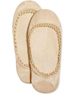 Women's 2-pk. Lace Trim Liner Socks