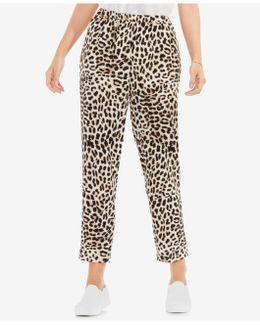 Animal-print Pull-on Pants