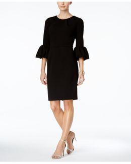 Petite Bell-sleeve Sheath Dress