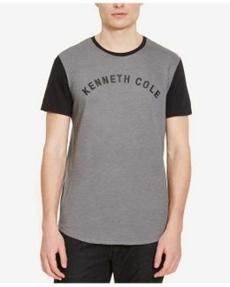 Men's Colorblocked Graphic-print Logo T-shirt