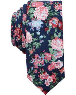 Men's Ashwood Floral Skinny Tie