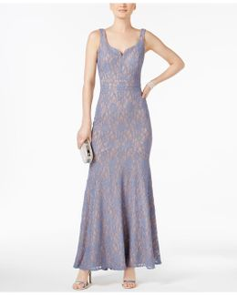 Glitter Lace Gown