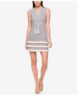 Tassel-tie Woven Fringe Dress